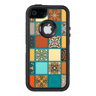 Vintages Patchwork mit Blumenmandalaelementen OtterBox iPhone 5/5s/SE Hülle