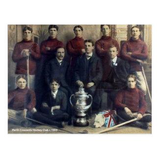 Vintages Perth-Halbmond-Hockey-Team 1903 Postkarte