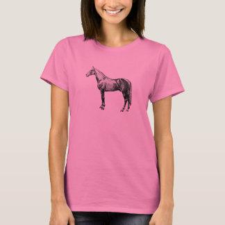 Vintages Pferdelanges Hülsen-Shirt T-Shirt