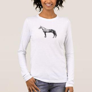 Vintages PferdeShirt Langarm T-Shirt