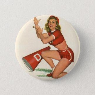 Vintages Pinup-Mädchen-ursprünglicher Farbton 17 Runder Button 5,1 Cm