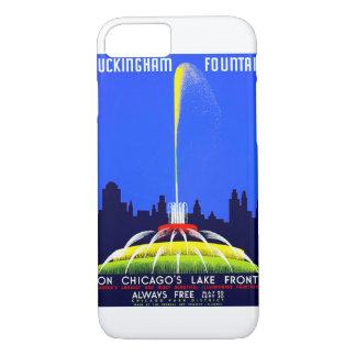 Vintages Plakat Buckingham Brunnen-WPA iPhone 8/7 Hülle
