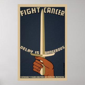 Vintages Plakat des Kampf-Krebs-WPA
