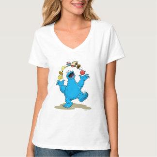 Vintages Plätzchen-Monster-Jonglieren T-Shirt