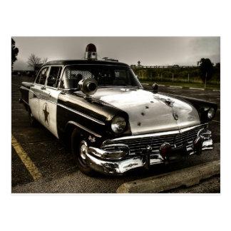 Vintages Polizei-Auto Postkarte