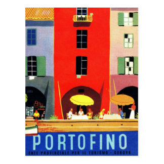 Vintages Portofino Genua Italien Postkarten