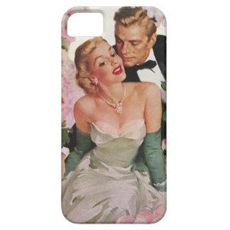 Vintages Porträt. Braut und Bräutigam iPhone 5 Cover