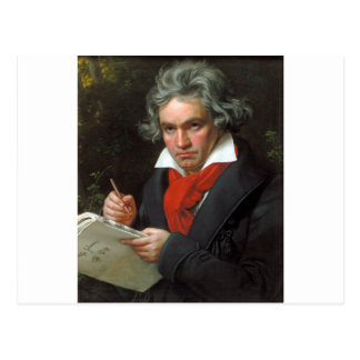 Vintages Porträt des Komponisten, Ludwig von Postkarte