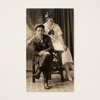 Vintages Porträt Visitenkarte