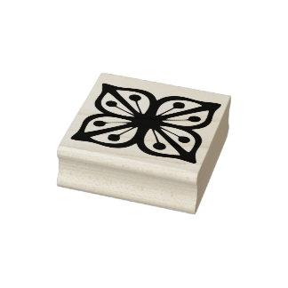 Vintages Pyrex Muster - Verde quadratische Blume Gummistempel