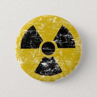Vintages radioaktives runder button 5,7 cm
