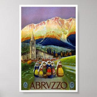Vintages Reise-Klassiker-Plakat Abruzzos Italien Poster