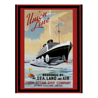 Vintages Reise-Plakat 47 Postkarte