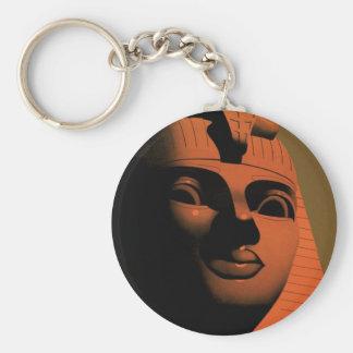 Vintages Reise-Plakat, Ägypten, Afrika mit Sphinxe Standard Runder Schlüsselanhänger