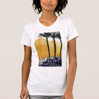 Vintages Reise-Plakat Ägyptens wieder hergestellt T-Shirt