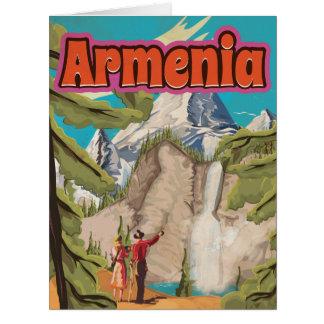 Vintages Reise-Plakat Armeniens Karte