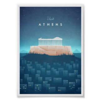 Vintages Reise-Plakat Athens Poster