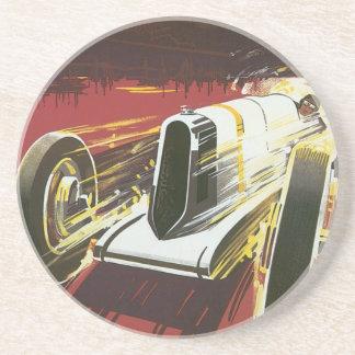 Vintages Reise-Plakat, Auto-Rennen Monacos Getränkeuntersetzer