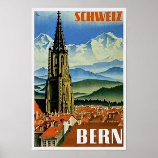 Vintages Reise-Plakat Bern die Schweiz Poster