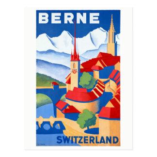 Vintages Reise-Plakat Berns die Schweiz wieder Postkarte