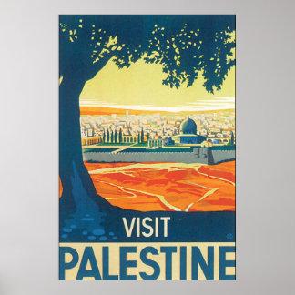 Vintages Reise-Plakat Besuchs-Palästinas Poster