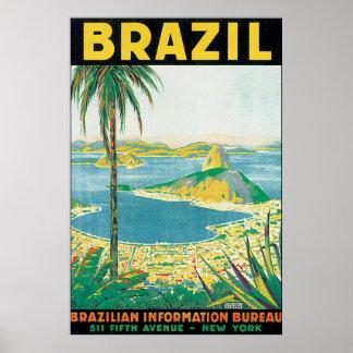 Vintages Reise-Plakat Brasiliens Poster