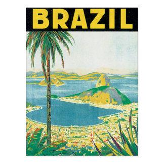 Vintages Reise-Plakat Brasiliens Postkarten