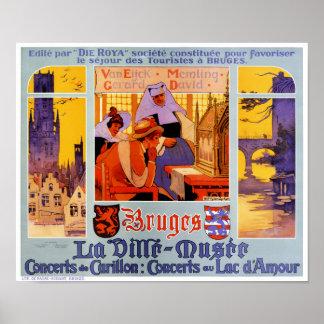 Vintages Reise-Plakat Brügges wieder hergestellt Poster