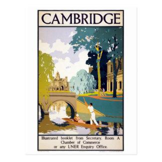 Vintages Reise-Plakat Cambridges wieder Postkarte