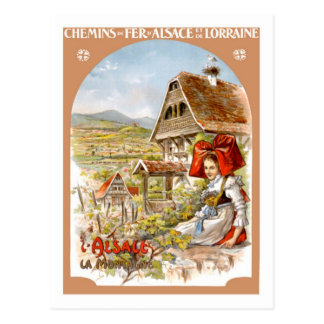 Vintages Reise-Plakat, Frankreich Postkarte