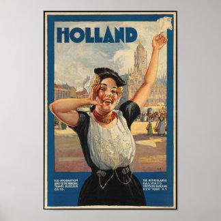 Vintages Reise-Plakat für Holland Poster
