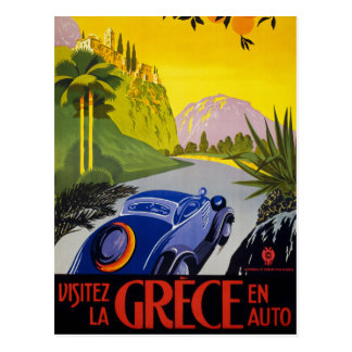 Vintages Reise-Plakat Griechenlands wieder Postkarte
