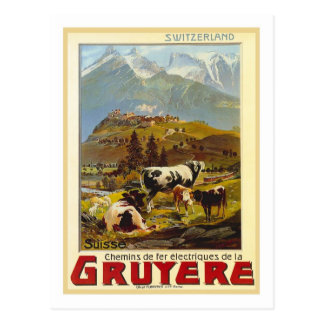 Vintages Reise-Plakat, Gruyere Postkarten