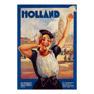 Vintages Reise-Plakat Hollands Poster