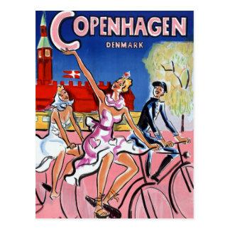 Vintages Reise-Plakat Kopenhagens wieder Postkarten