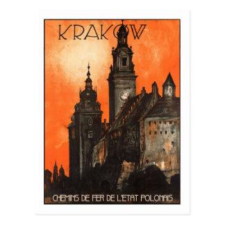 Vintages Reise-Plakat, Krakau Postkarten