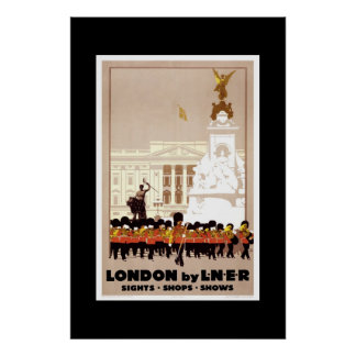 Vintages Reise-Plakat London