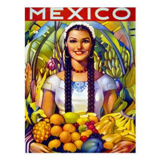 Vintages Reise-Plakat Mexikos wieder hergestellt Postkarte