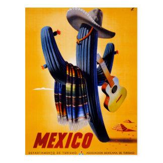 Vintages Reise-Plakat Mexikos wieder hergestellt Postkarten