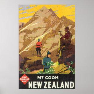 Vintages Reise-Plakat Mt-Koch-Neuseelands Poster
