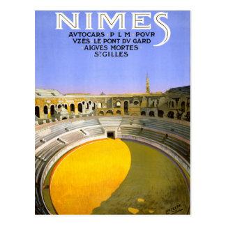 Vintages Reise-Plakat Nimes Frankreich wieder Postkarte