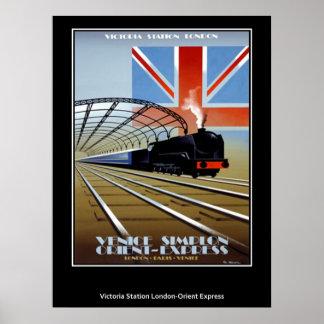 Vintages Reise-Plakat-Orient-Eil Poster
