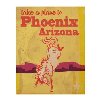 Vintages Reise-Plakat Phoenix, Arizona USA Holzwanddeko