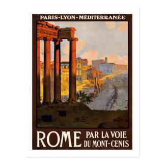 Vintages Reise-Plakat, Rom Postkarte