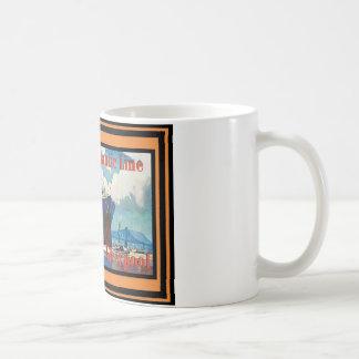 Vintages Reise-Plakat Tasse
