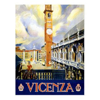 Vintages Reise-Plakat Vicenzas Italien wieder Postkarte