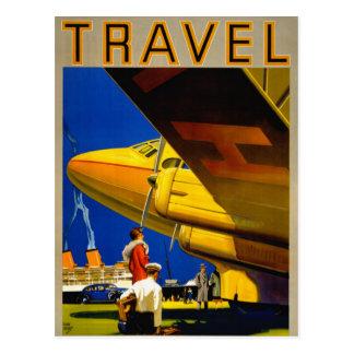 Vintages Reise-Plakat wieder hergestellt Postkarte