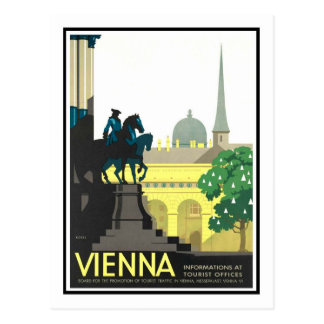 Vintages Reise-Plakat, Wien Postkarten