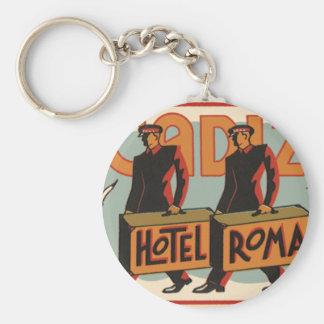 Vintages Reisebellhops-Hotel Rom, Cadiz, Spanien Schlüsselanhänger