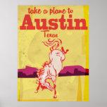 Vintages Reiseplakat Austins Texas Poster